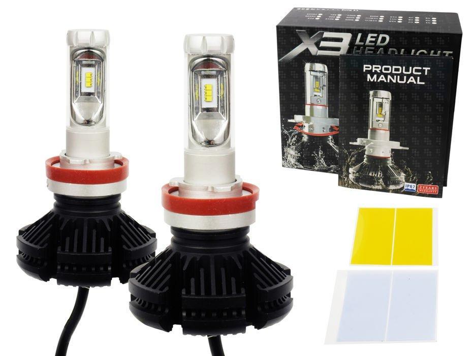 LED21 LED auto žárovka H9 H11 X3 Philips LED ZES 50W s chladičem 12000lm
